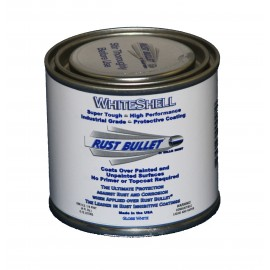 White Gloss Metal Paint Industrial Rust Inhibitive Coating RB WhiteShell 1/4 US Pint