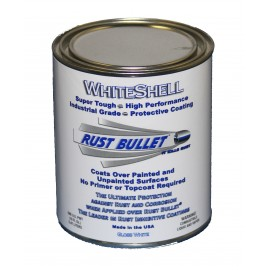 White Gloss Metal Paint Industrial Rust Inhibitive Coating RB WhiteShell 1 Pint (0.473 litres)