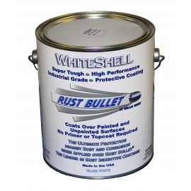White Gloss Metal Paint Industrial Rust Inhibitive Coating Rust Bullet WhiteShell 1 US Gallon (3.79 Ltrs)