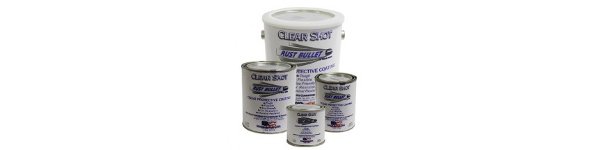 Clear rust Inhibitive coating Rust Bullet ClearShot