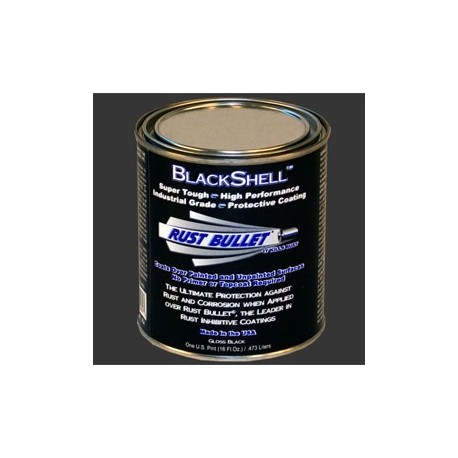Gloss Black Metal Paint Industrial Grade Protective Coating RB BLackshell 1 Pint(0.473ltrs)
