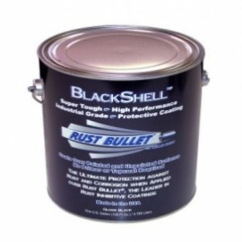 Gloss Black Metal Paint Industrial Grade Protective Coating RB Blackshell 1 Gallon (3.785ltr)