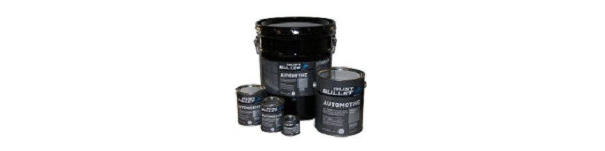 """Rust Bullet Automotive"" car rust treatment paint and metal primer"